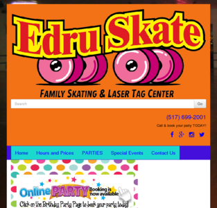Edru Skate A Rama Roller skating Laser tag Game room Party Holt Lansing Michigan