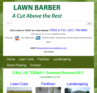 Lawn Barber Services serving Muskegon Michigan since 1991