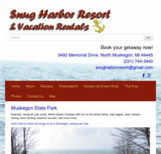 Snug Harbor Resort & Vacation Rentals Muskegon Michigan 49445