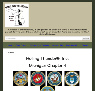 Rolling Thunder Inc. Michigan Chapter 4